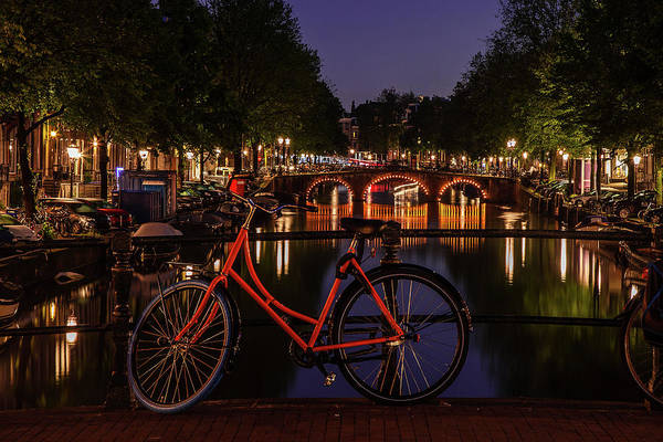 Wall Art - Photograph - Twilight Over An Amsterdam Canal by Andrew Soundarajan