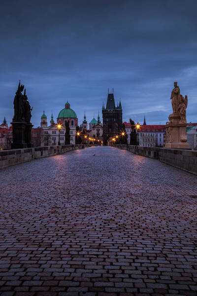 Wall Art - Photograph - Twilight Over Charles Bridge by Andrew Soundarajan