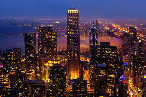 Wall Art - Photograph - Twilight Over Chicago by Andrew Soundarajan