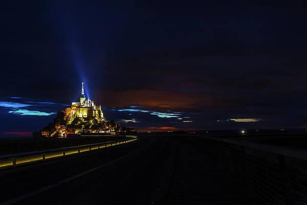 Wall Art - Photograph - Twilight Over Mont Saint Michel by Andrew Soundarajan