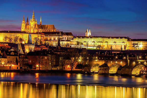 Wall Art - Photograph - Twilight Over Prague by Andrew Soundarajan