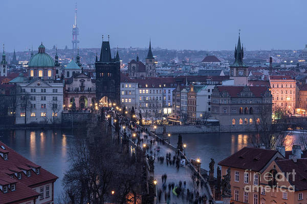 Photograph - twilight over Prague by Didier Marti