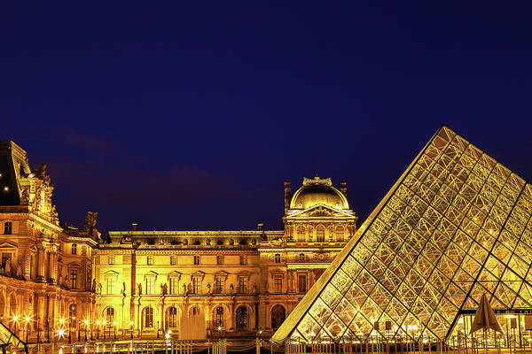 Wall Art - Photograph - Twilight Over The Louvre by Andrew Soundarajan