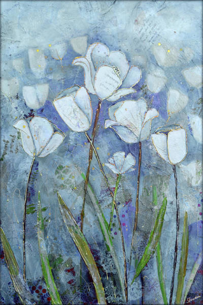 Wall Art - Painting - Twilight Tulips by Shadia Derbyshire