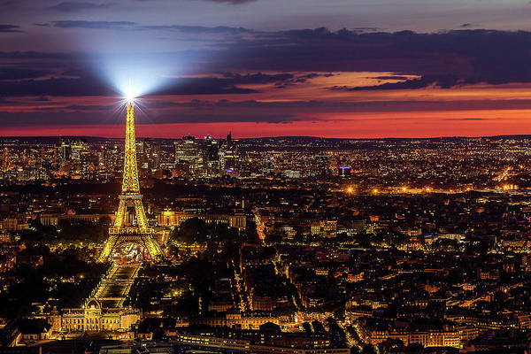 Wall Art - Photograph - Twilight Over Paris by Andrew Soundarajan