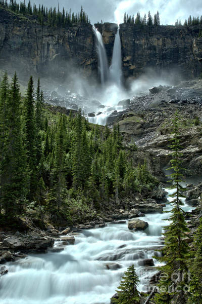 Photograph - Twin Falls Extended Portrait by Adam Jewell