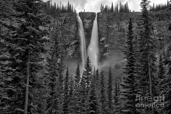 Photograph - Twin Falls Tea House View Black And White by Adam Jewell