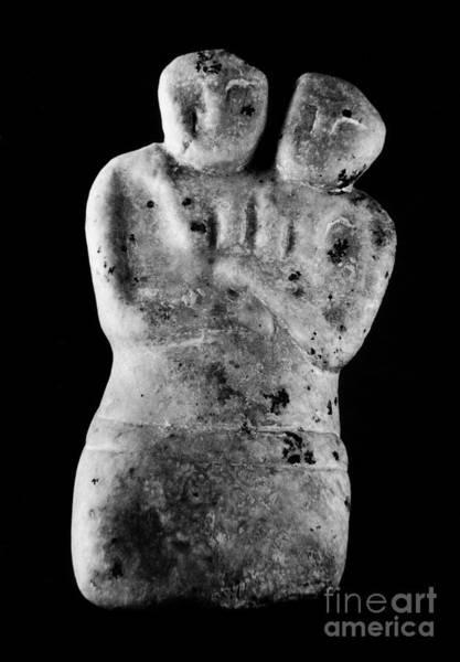 Sculpture - Twin Goddess Figure by Granger