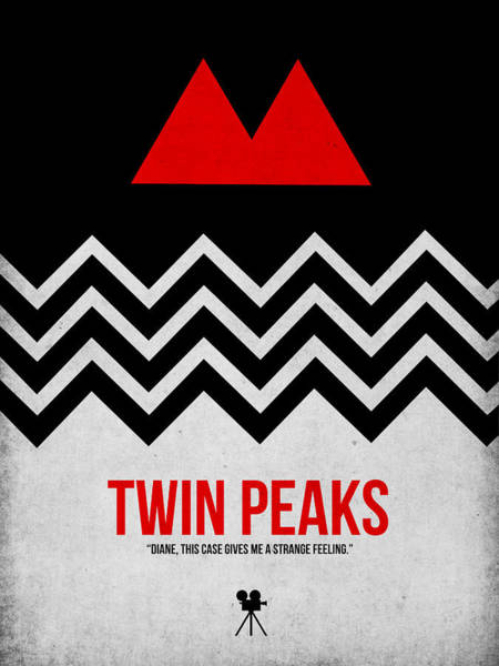 Mystery Digital Art - Twin Peaks by Naxart Studio