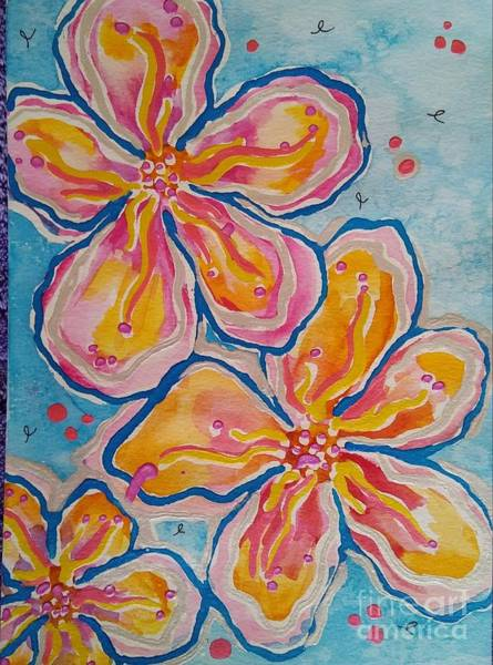Cell Phone Cases Mixed Media - Two And A Half Flowers by E Buchanan