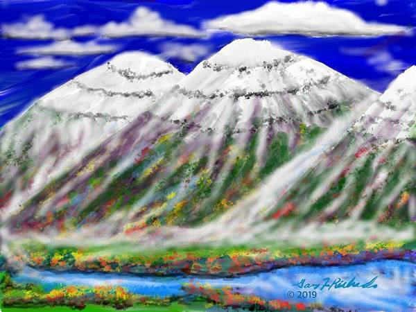 Wall Art - Digital Art - Two And A Half Peaks by Gary F Richards