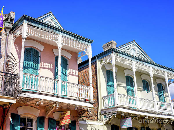 Photograph - Two Balconies New Orleans by John Rizzuto