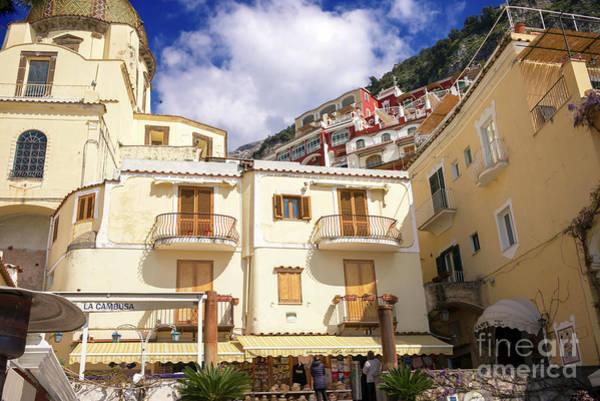 Wall Art - Photograph - Two Balconies Positano by John Rizzuto