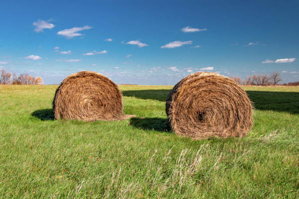 Photograph - Two Bales by Todd Klassy