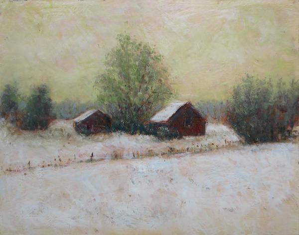 Kavanaugh Painting - Two Barns, Winter by Keith Kavanaugh