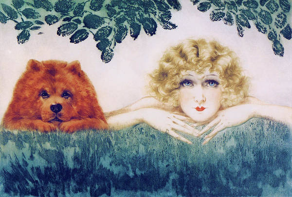 Wall Art - Painting - Two Beauties - Digital Remastered Edition by Louis Icart