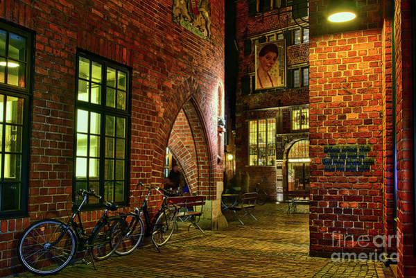 Bremen Wall Art - Photograph - Two Bikes In The Alley by Paul Quinn