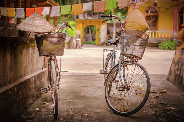 Photograph - Two Bikes Tam Coc by Gary Gillette