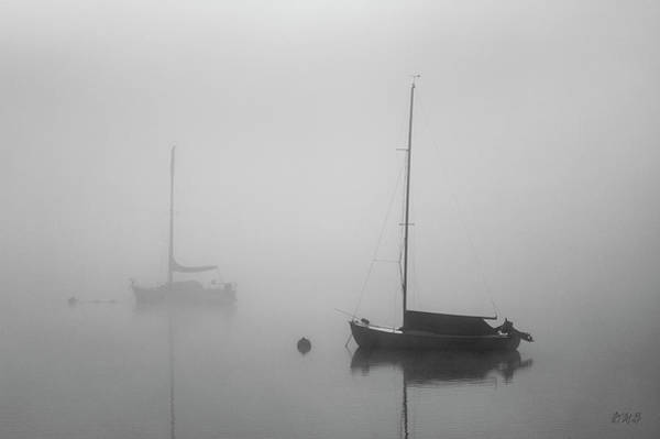 Photograph - Two Boats And Fog II Bw by David Gordon