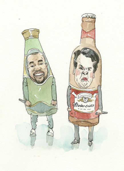 2 Painting - Two Bottles by Barry Blitt