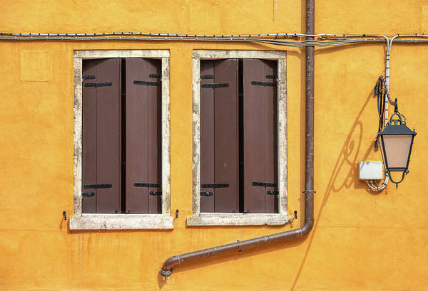 Photograph - Two Brown Windows Of Venice by David Letts