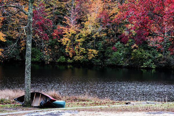Wall Art - Photograph - Two Canoes On An Autumn Day by Anita Faye