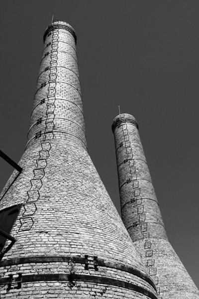 Photograph - Two Chimney Stacks by Aidan Moran