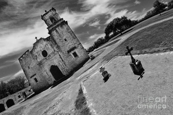 Photograph - Two Crosses And Mission San Jose San Antonio Texas  by Blake Richards