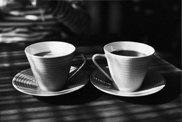 Sunlight Photograph - Two Cups Of Coffee In Sunlight by Breeze.kaze