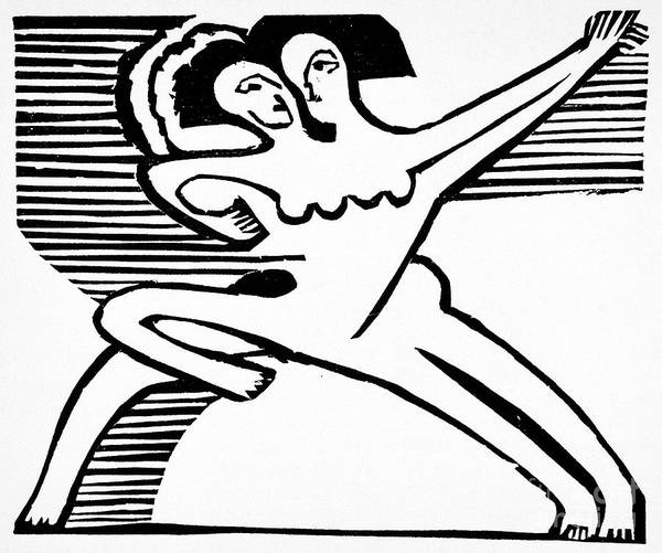 Wall Art - Painting - Two Dancers, 1932 by Ernst Ludwig Kirchner