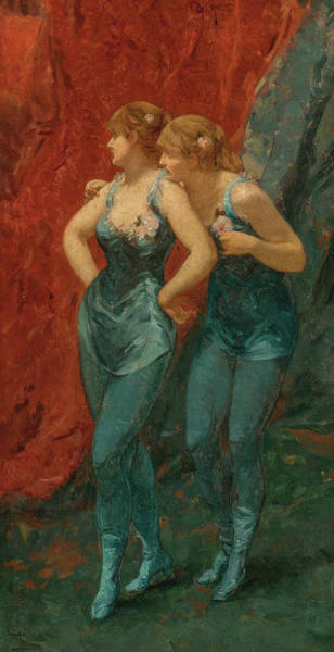 Wall Art - Painting - Two Dancers, 19th Century by Charles Hermans