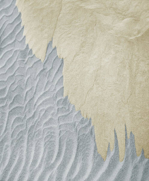 Sand Photograph - Two Different Colors Of Sand by Thomas Northcut