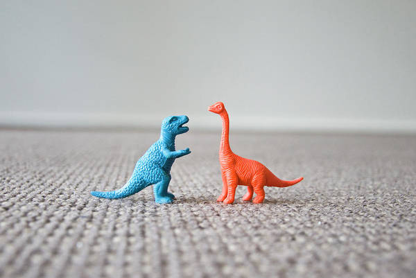 Era Photograph - Two Dinosaurs by Susie Adams