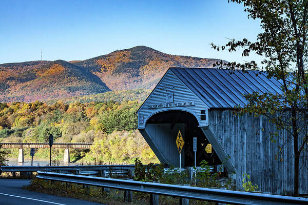 Photograph - Two Dollar Fine At Cornish Windsor Covered Bridge by Jeff Folger