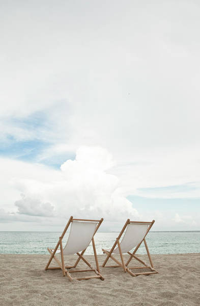 Wall Art - Photograph - Two Empty Chairs On The Beach by Momo Productions
