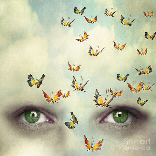 Beauty Of Nature Wall Art - Photograph - Two Eyes With The Sky And So Many by Valentina Photos