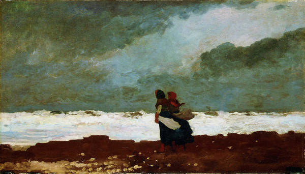 Blast Wave Wall Art - Painting - Two Figures By The Sea - Digital Remastered Edition by Winslow Homer