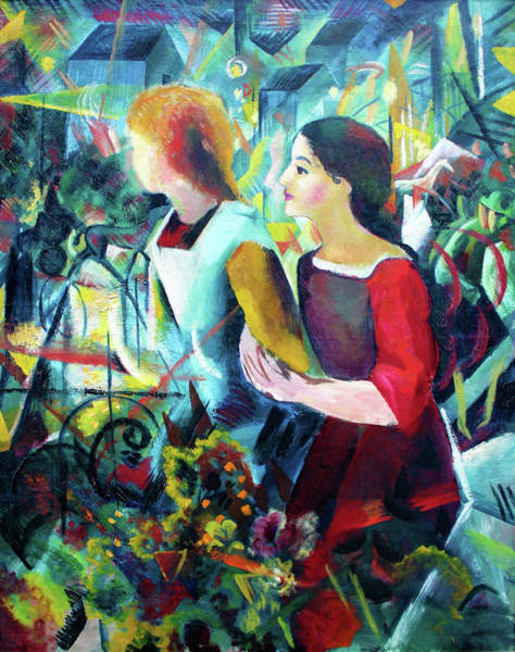 Wall Art - Painting - Two Girls - Digital Remastered Edition by August Macke