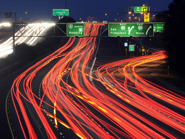 Rush Hour Photograph - Two Great Freeways by Mike Perry - Flickr.com/mrperry