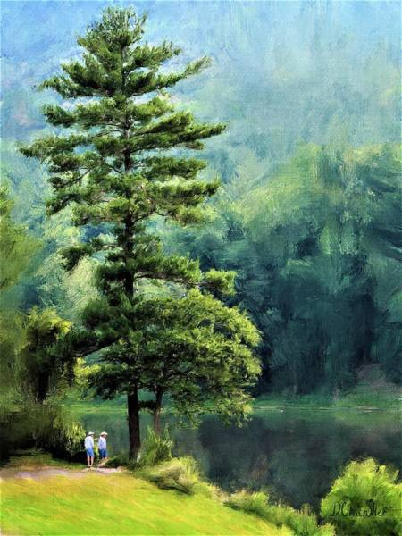 Painting - Two Guys And A Pond by Diane Chandler