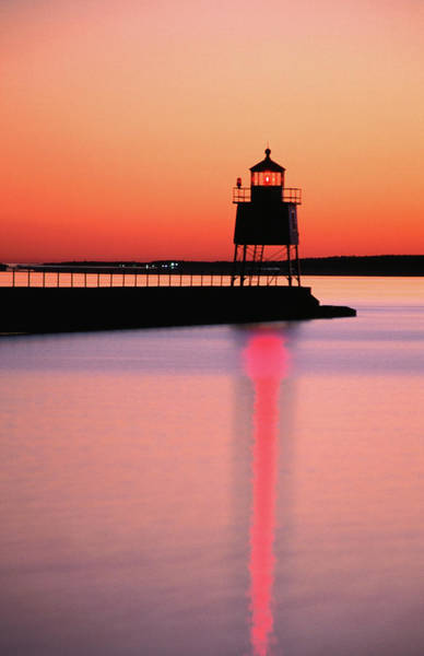 Lake Superior Photograph - Two Harbors Breakwater Lighthouse by Richard  Cummins
