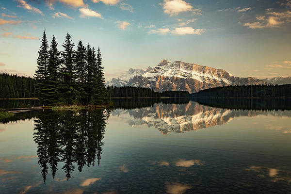 Photograph - Two Jack Lake And Mount Rundle by Peter OReilly
