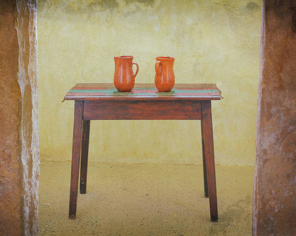 Wall Art - Photograph - Two Jugs On A Table by Ken Welsh