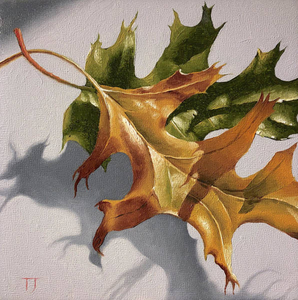 Wall Art - Painting - Two Leaves by Timothy Jones