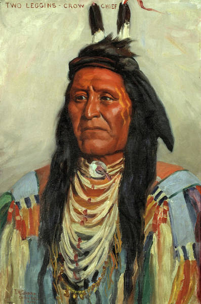 Wall Art - Painting - Two Leggins, Crow Chief, 1900 by Joseph Henry Sharp