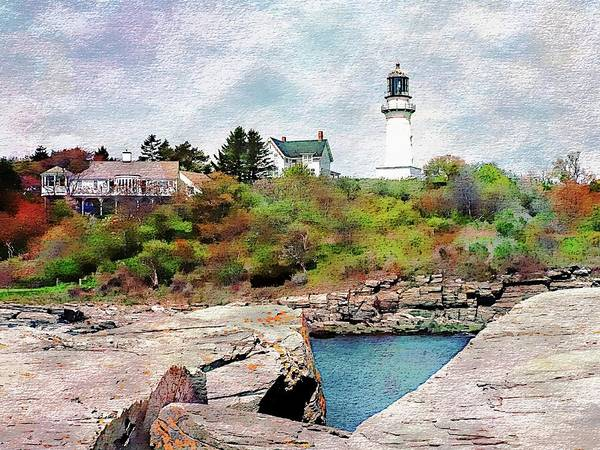 Digital Art - Two Lights State Park by Joseph Hendrix