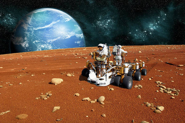 Digital Art - Two Person Rover by Marc Ward