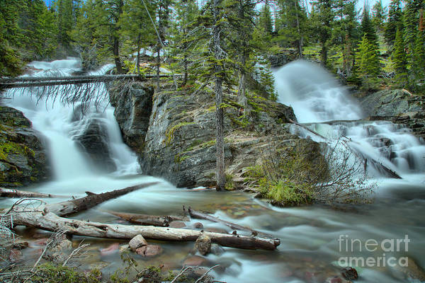Wall Art - Photograph - Two Medicine Twin Falls by Adam Jewell