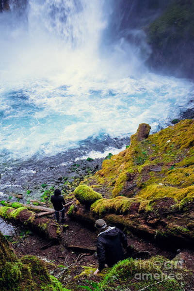 Wall Art - Photograph - Two Men Explore Koosah Falls In Oregon by Joshua Rainey Photography