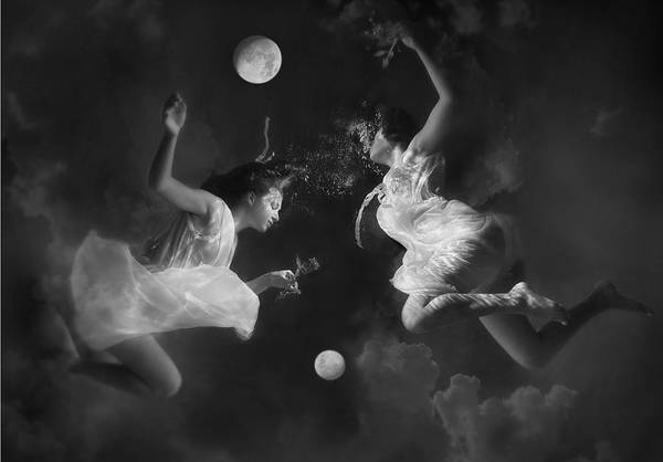 Adolescence Photograph - Two Moons by Photograph By Kathleen Wilke